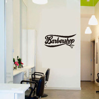 WallStiker Quotes Barbershop Dinding Sticker Kaca Cafe Wall Decor Kaca