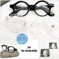 kacamata minus bulat retro ( frame + lensa )