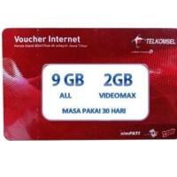 Voucher Data Fisik Telkomsel 11GB 11 GB Kuota