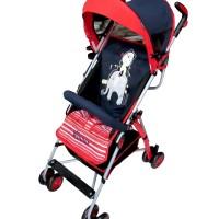 BABY STROLLER PLIKO 106 WINNER BUGGY / KERETA DORONG BAYI [ NAVY RED ]