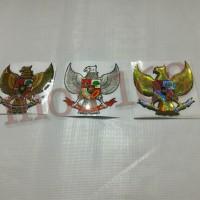 Emblem Sticker Stiker Timbul 3D Lambang Burung Garuda 6,7 Cm