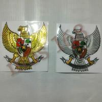 Emblem Sticker Stiker Timbul 3D Lambang Burung Garuda 7,8 cm