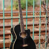 Gitar Yamaha APX 500 Akustik Elektrik Black Eq7545r (Full Set) -JADE-