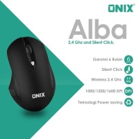 Onix Alba - Lightweight Wireless Mouse with 1600 dpi and Silent Click