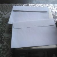 amplop putih polos jaya 104 kecil dengan perekat