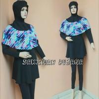 baju renang wanita muslimah dewasa kerudung panjang kombinasi tile
