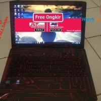 Dijual Garskin Laptop Full Body Asus ROG GL552 ALL Series-Circuit Red-