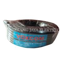 Kabel Antena TV RG-6 Coaxial 20y Hitam 75ohm VOXCOM