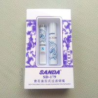 Pipa Filter Rokok Sanda SD-179 RING SILVER Cangklong
