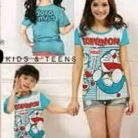 Baju Couple Mom Kids Kaos Pasangan Ibu Anak Fashion Murah Dora 9035