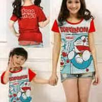 Baju Couple Mom Kids Kaos Pasangan Ibu Anak Fashion Murah Dora 9034