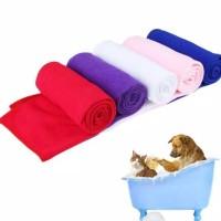 """Handuk Anjing Kucing  MICROFIBER 70x140 cm """" Pet Grooming Towel"""