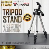Tripod HP Kamera Aluminium 4 Section Brace WEIFENG ORIGINAL WT-3110A