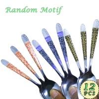 Sendok Makan Indoglass BTS Motif Batik Stainless Steel - Isi 12pcs