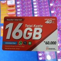 Kuota Internet Smartfren 16 GB Paket Data [VOUCHER]