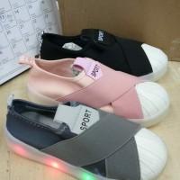 Sepatu lampu led anak import sneakers cowo cewe kets original impor