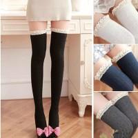 KSKI0037 - Cosplay Long Women Stockings Tigh High Knit Lace Socks