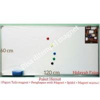 papan tulis + whiteboard Keiko + magnet warna + spidol snowman