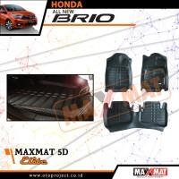 Karpet mobil maxmat 5d tipe elite black All New Brio 2 Baris + Bagasi