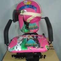 STOK TERBATAS Paket Kursi boncengan Helm retro anak