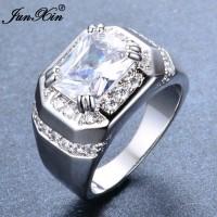 Cincin Pria Blue White Sapphire Zircon Cubic Silver 925 JCP-030