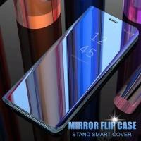 Flip Case Cermin Bening untuk Xiaomi Redmi Note 5 Pro / 5A Prime