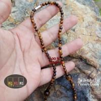 Kalung Tasbih Tiger Eyes n Akik Lumut with maghnet beads