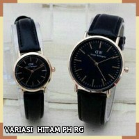 FREE BOX & BATERAI !! READY 6 WARNA JAM TANGAN COUPLE DW POLOS KULIT
