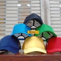 topi trucker / topi jaring bisa sablon nama / topi sablon custom - Putih