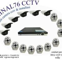PAKET CCTV 16 CHANNEL AHD 4MP LENGKAP TINGGAL PASANG