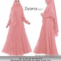 ziyana pink salem gamis syari set jilbab terbaru selebgram hijab murah