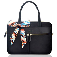"Cartinoe London Tas/Bag/Case Laptop Shoulder 15 13"" With Fancy Ribbon"