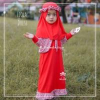 Fiola Dress - Baju Muslim Balita - Dress Kekinian untuk Pesta 3-4thn