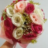 (HM) Hand Bouquet / Buket bunga cantik utk bridesmaids,dpt 3 buket!