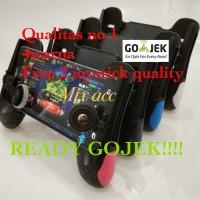 Portable Game Grip Gamepad PUBG + 2 joystick for mobile legend F1 GAME - Putih
