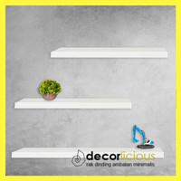 Rak Dinding Floating Shelves Minimalis 3 Pcs Uk. 40,40,60 cm Lbr 12cm