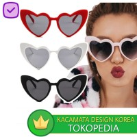Kacamata (Design Korea) Pria Wanita Bentuk Love Eye