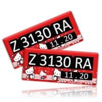 Jual Dudukan / Tatakan Plat Nomor Motor Hello Kitty Merah Best