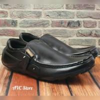 Sepatu casual kulit asli Dr. Boss Hitam