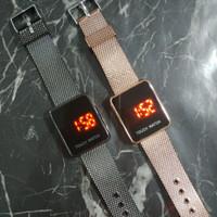 Touch Watch Jam Tangan Couple Rantai Sentuh LED Wanita Pria Fashion
