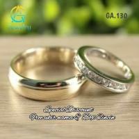 Cincin Kawin Tunangan Couple Sepasang Palladium Perak GA.130