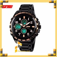 SKMEI Fashion Watch 1021 Original Water Resistant 50M Black Gold