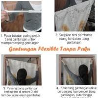 HOT SALE Gantungan/ Tiang/ Sekat TANPA PAKU size 102cm - 190m