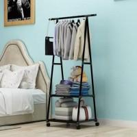 HOT SALE Triangle Stand Hanger Rak Buku Gantungan Pakaian Serbaguna