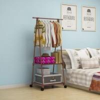 HOT SALE Triangle Stand Hanger Rak Buku Pakaian Serbaguna Dengan 4