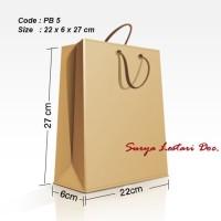 Paperbag/shoppingbag/tas kertas polos 22x6x27