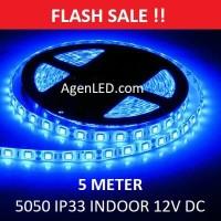 Lampu LED Strip 5050 IP33 12v INDOOR Ledstrip BIRU ip 33 Blue 12 v DC