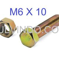 BAUT MUR HEX KUNING M6 X 10