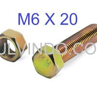 BAUT MUR HEX KUNING M6 X 20
