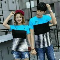 Baju Couple Kaos Oblong Pasangan Soulmate Forever X Biru 11158